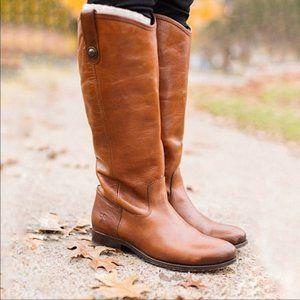 Frye Melissa Button Leather Cognac Riding Boot 7